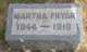 Profile photo:  Martha <I>Rakestraw</I> Fryar