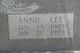Annie Lee <I>Neelley</I> Gibson