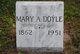 Profile photo:  Mary Ann <I>Slattery</I> Doyle