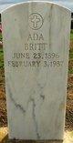 Profile photo:  Ada G <I>Davis</I> Britt