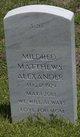 Mildred <I>Matthews</I> Alexander