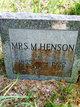 Mary Ann <I>Williams</I> Henson