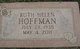 Ruth Helen <I>Rowland</I> Hoffman