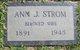 Profile photo:  Ann Jeannette <I>Strang</I> Strom