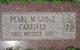Pearl M <I>Goble</I> Carriker