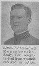 Profile photo: Lieut Ferdinand Regenbrecht