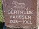 Profile photo:  Gertrude Hausser