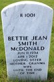 Profile photo:  Bettie Jean <I>Smith</I> McDonald