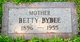Profile photo:  Betty <I>Dalby</I> Bybee