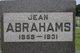 Profile photo:  Jean Abrahams