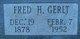 Fred Henry Gerlt