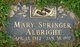 Profile photo:  Mary Edith <I>Springer</I> Albright
