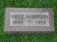 Annie <I>McRoberts</I> Anderson