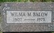 Wilma M. Balow