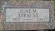 June M <I>Bowman</I> Strauss