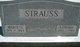 Marie Sophie Theresa <I>Siebenneicher</I> Strauss