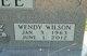 Wendy <I>Wilson</I> Bartee