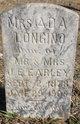 Profile photo:  Ada <I>Earley</I> Longino