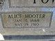 Profile photo:  Alice <I>Hooter</I> Fowler