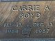 Profile photo:  Carrie Annette <I>Boyd</I>