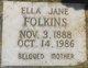 Ella Jane <I>Buffington</I> Folkins