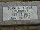 Profile photo:  Juanita <I>Vaughan</I> Adams