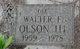 """Walter F. """"Ole"""" Olson III"""