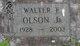Walter F Olson Jr.