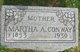 Profile photo:  Martha A. <I>Short</I> Conway