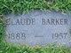 "Claudius B. ""Claud"" Barker"