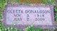 Profile photo:  Oletta <I>Donaldson</I> Donaldson