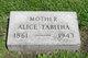 Profile photo:  Alice Tabitha <I>Fitzsimmons</I> Augustine