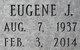 "Eugene J. ""Gene"" Bauer"