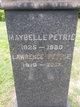 Maybelle <I>Jenkins</I> Petrie