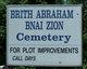 Brith Abraham Bnai Zion Cemetery