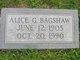 Alice G. <I>Goss</I> Bagshaw