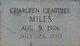 Frances Charleen <I>Crabtree</I> Miles