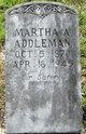 Profile photo:  Martha Ann Addleman