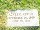 Profile photo:  Agnes <I>Colvin</I> Atkins