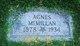 Profile photo:  Agnes Munce <I>Bryan</I> McMillan