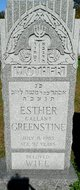 Esther <I>Killiwick</I> Greenstine