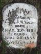 Profile photo:  Ada May Newman