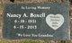 Nancy <I>Hall</I> Boxell