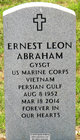 Sgt Ernest Leon Abraham