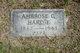 Profile photo:  Ambrose G Hardie