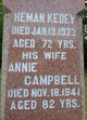 Profile photo:  Annie <I>Campbell</I> Kedey