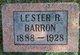 Profile photo:  Lester R. Barron