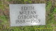 Edith <I>McLean</I> Osborne