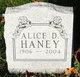 Profile photo:  Alice Dorothy Haney