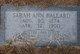Profile photo:  Sarah Ann <I>Fort</I> Ballard